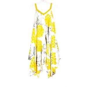 Pineapple print Handkerchief dress Sz XS